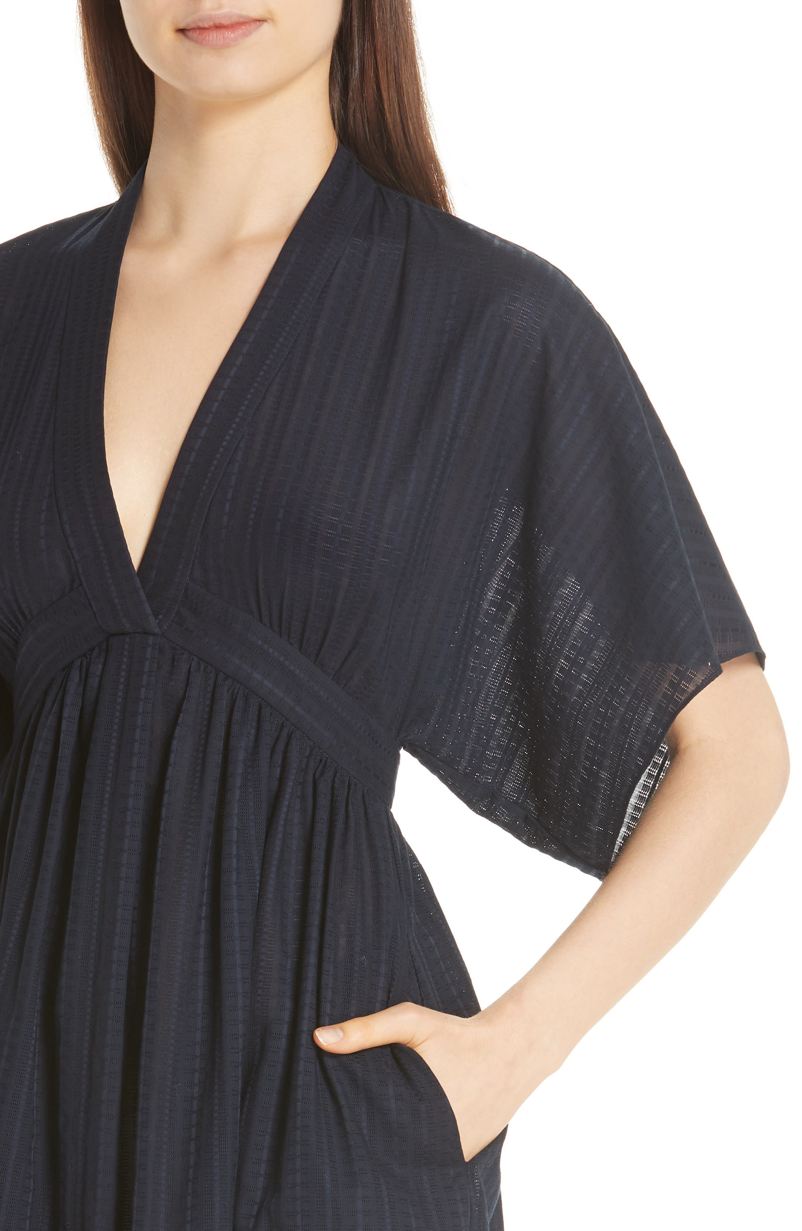 ,                             Swiss Voile Dress,                             Alternate thumbnail 4, color,                             NAVY