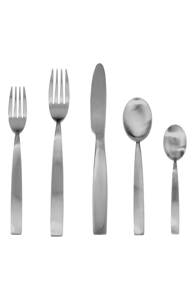 MEPRA 5-Piece Place Setting, Main, color, BRUSHED STAINLESS STEEL