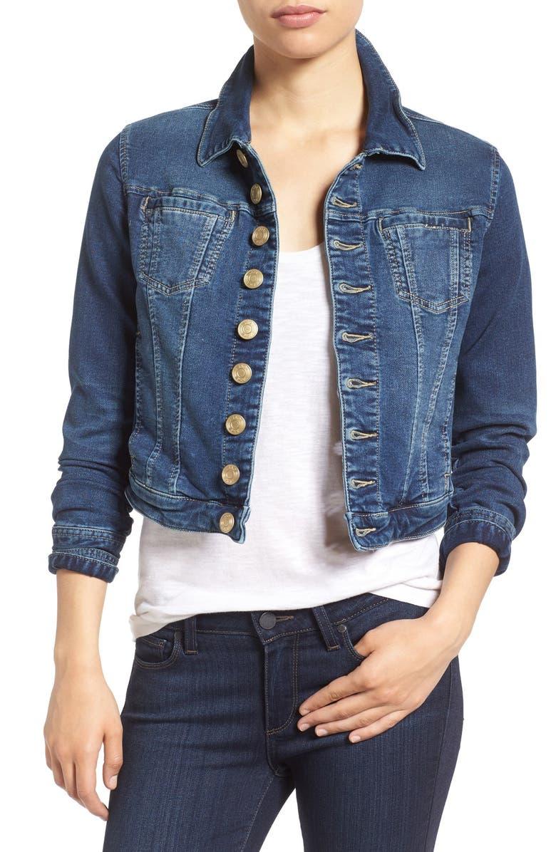 JAG JEANS Savannah Denim Knit Jacket, Main, color, 402