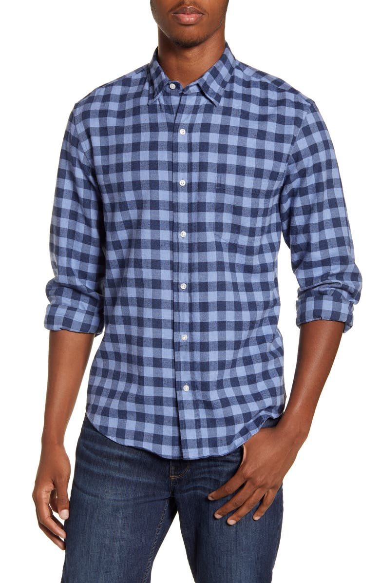 FRANK & EILEEN Don Regular Fit Check Button-Up Sport Shirt, Main, color, SKY BLUE NAVY CHECK