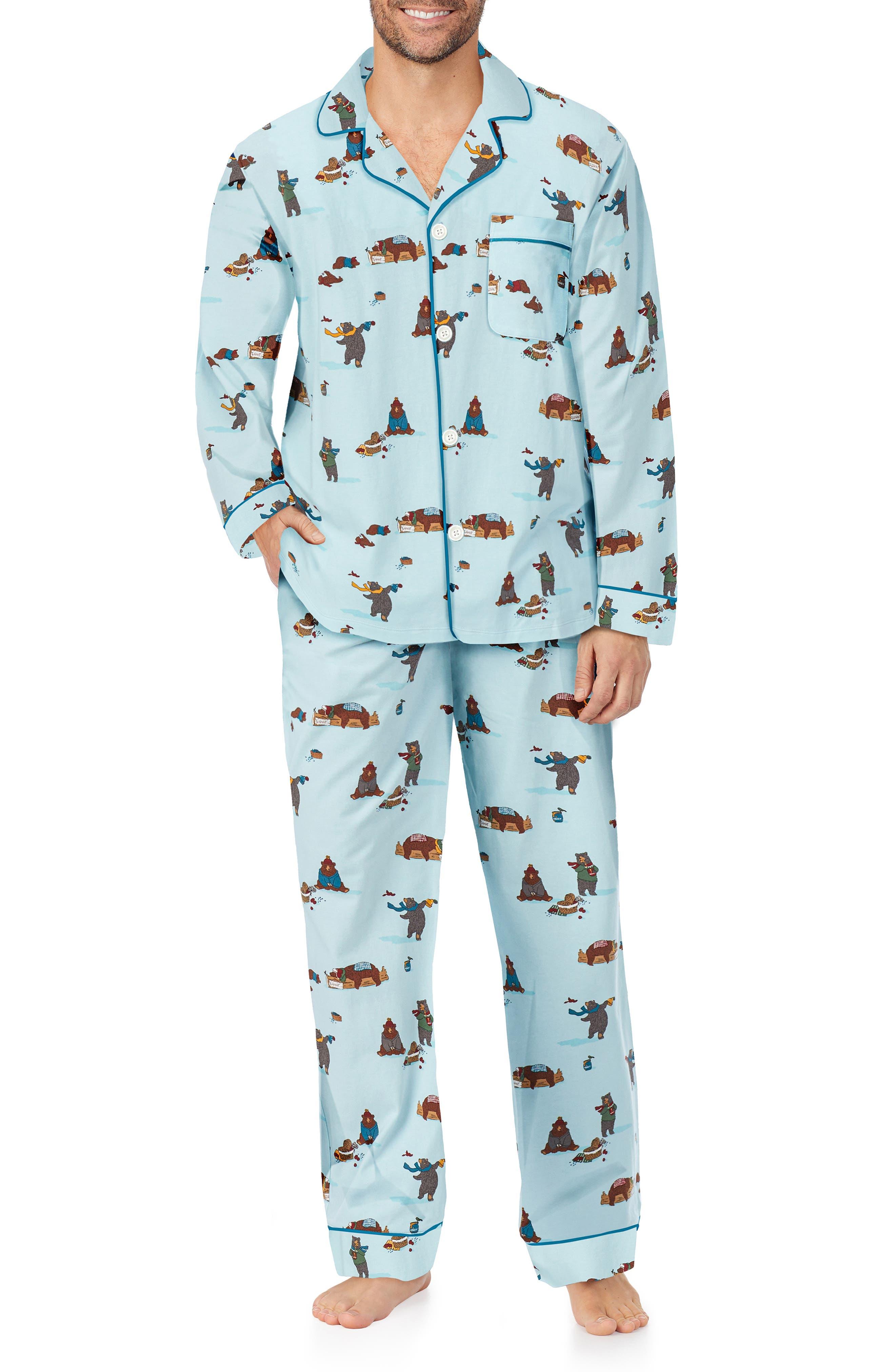 Print Stretch Organic Cotton Pajamas