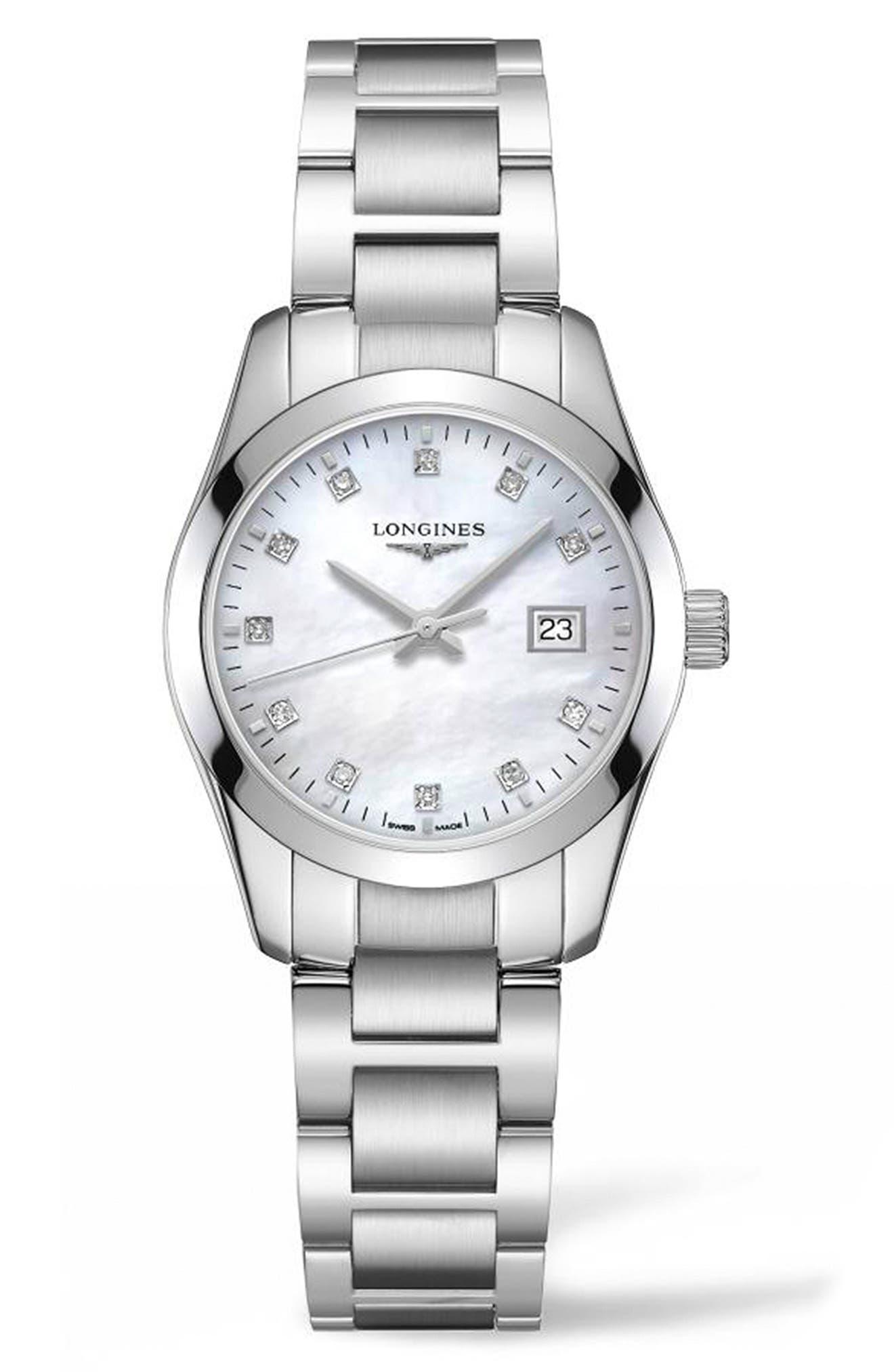 Conquest Classic Diamond Bracelet Watch