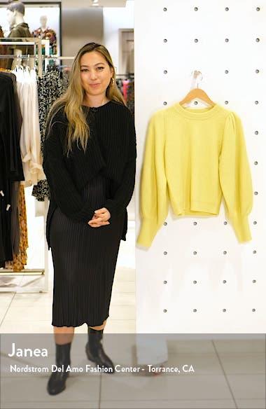 Eliana Balloon Sleeve Wool Blend Sweater, sales video thumbnail
