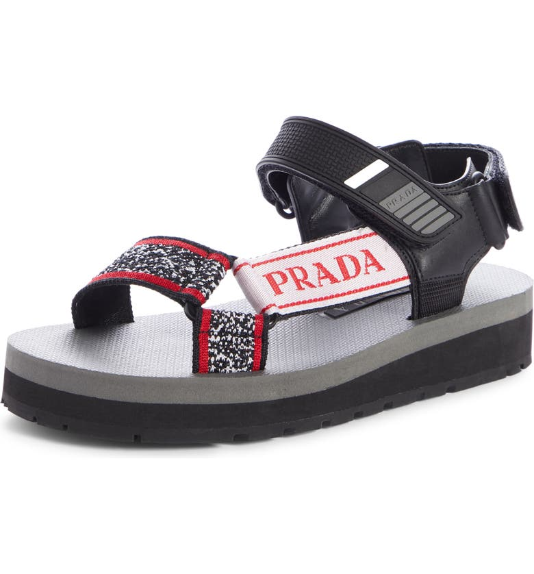 PRADA Sport Sandal, Main, color, 002
