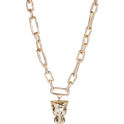 Alexis Bittar Future Antiquity Panther Head Necklace