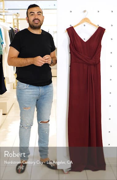 Fitted Jersey Gown, sales video thumbnail