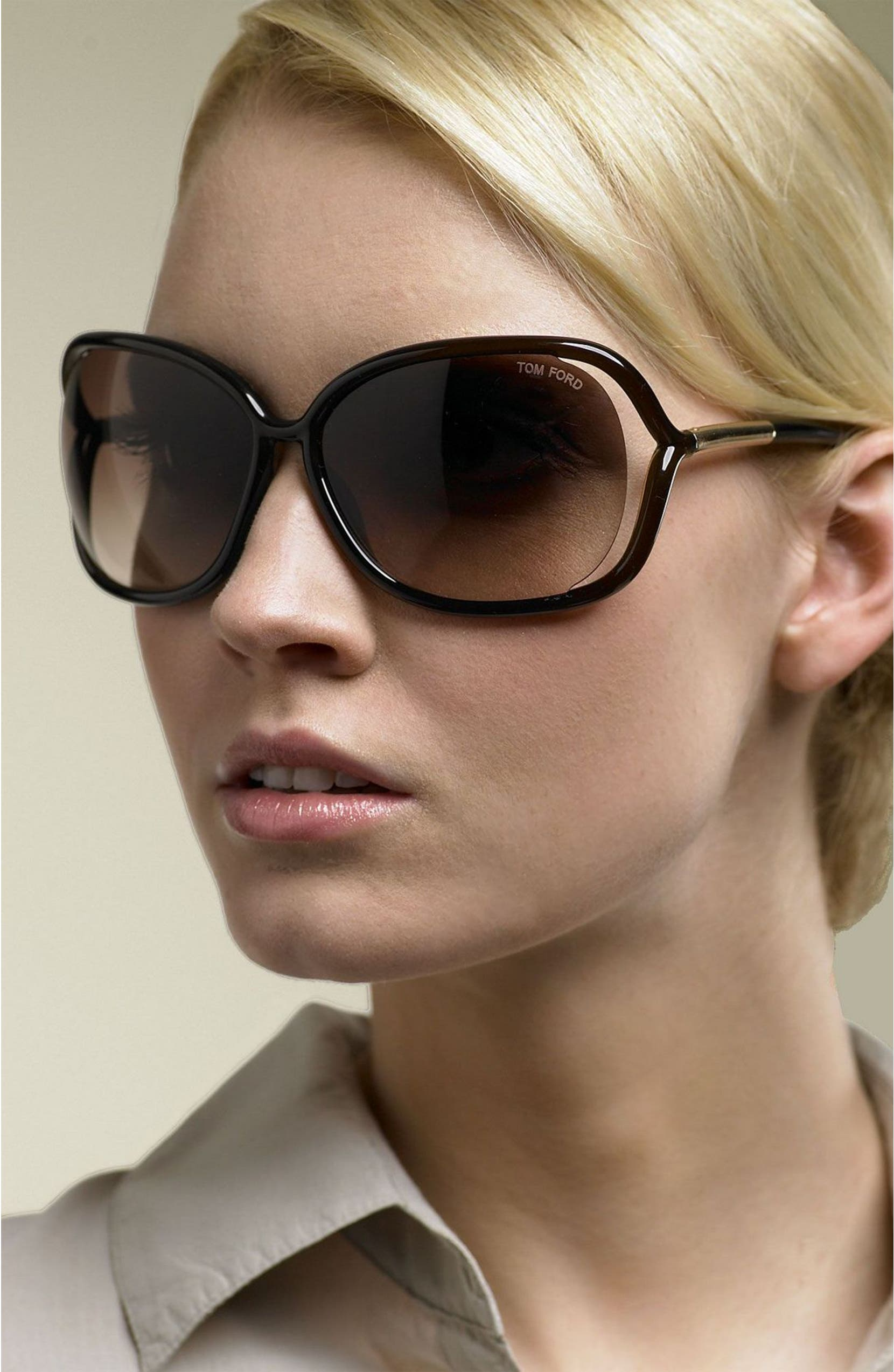 346ee0848d Tom Ford  Raquel  63mm Oversized Open Side Sunglasses
