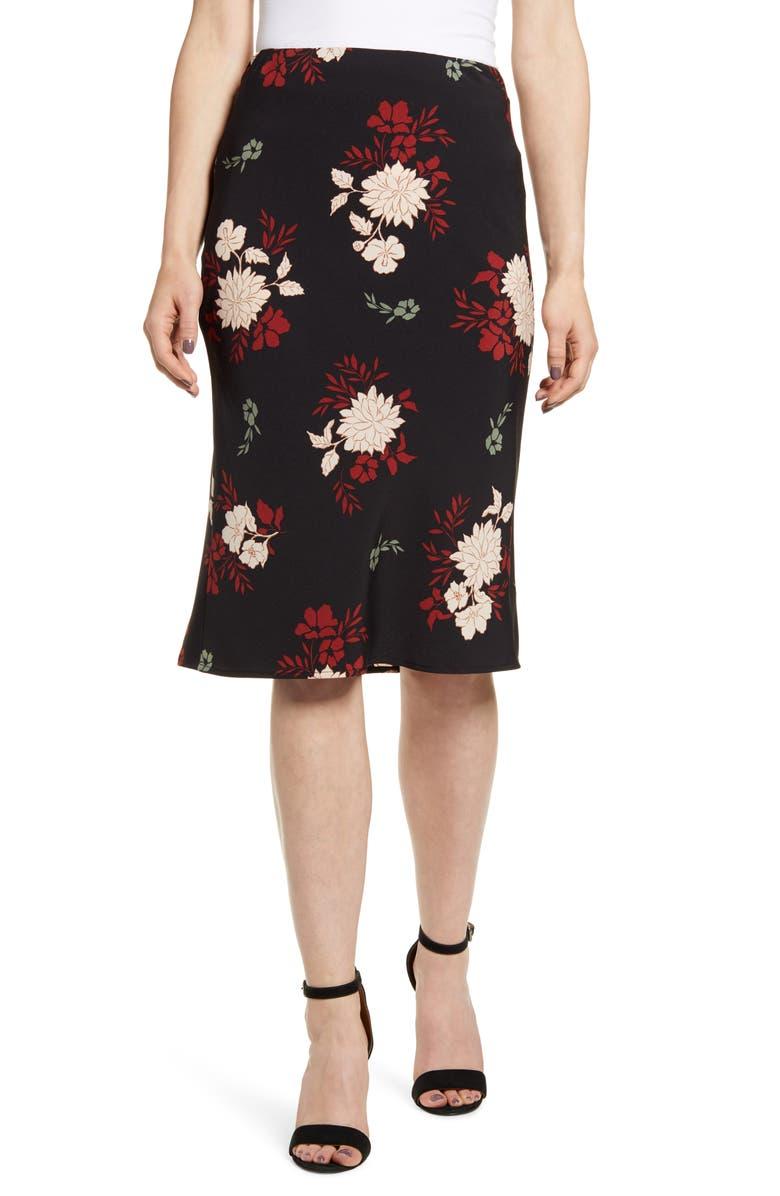 BOBEAU Courtney Bias Cut Skirt, Main, color, 016