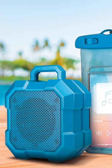 Image of Polaroid Rugged Wireless Speaker With Waterproof Universal Phone Pouch