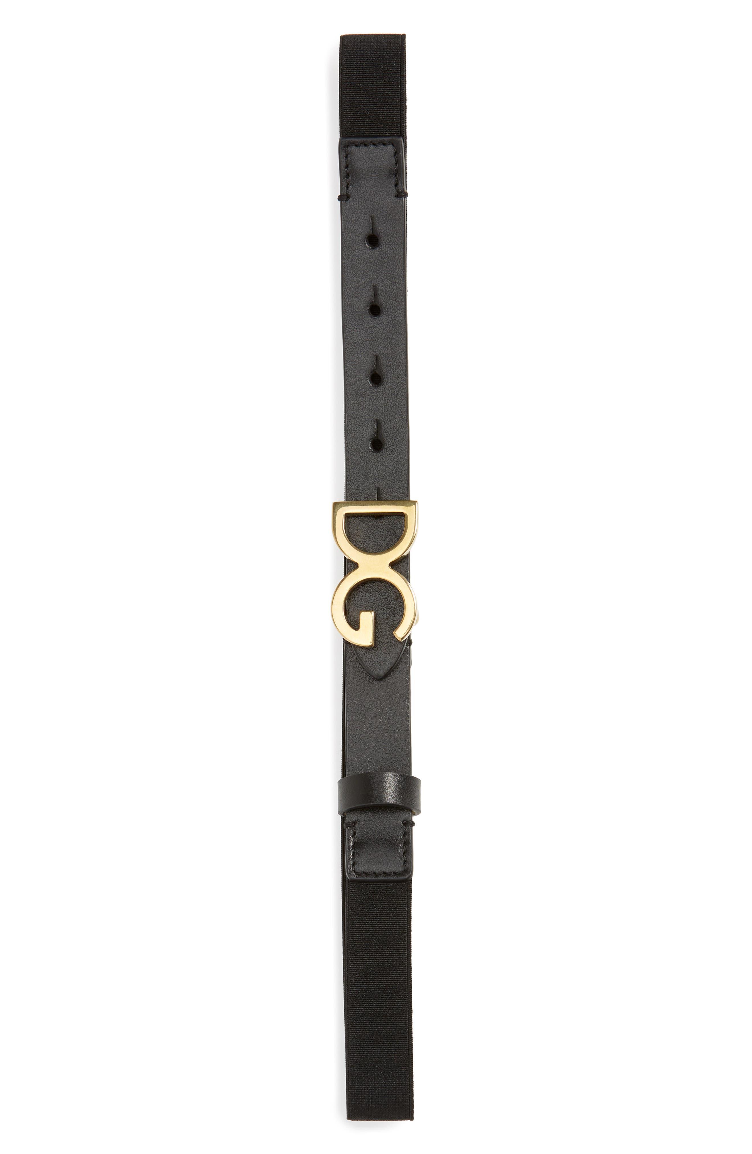 Toddler Dolce  gabbana Logo Stretch Belt Size S (24y)  Nero