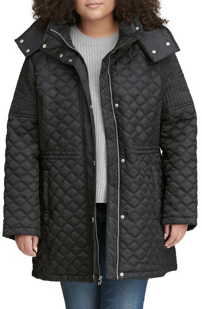 Marc New York TRIBECA QUILTED HOODED PARKA