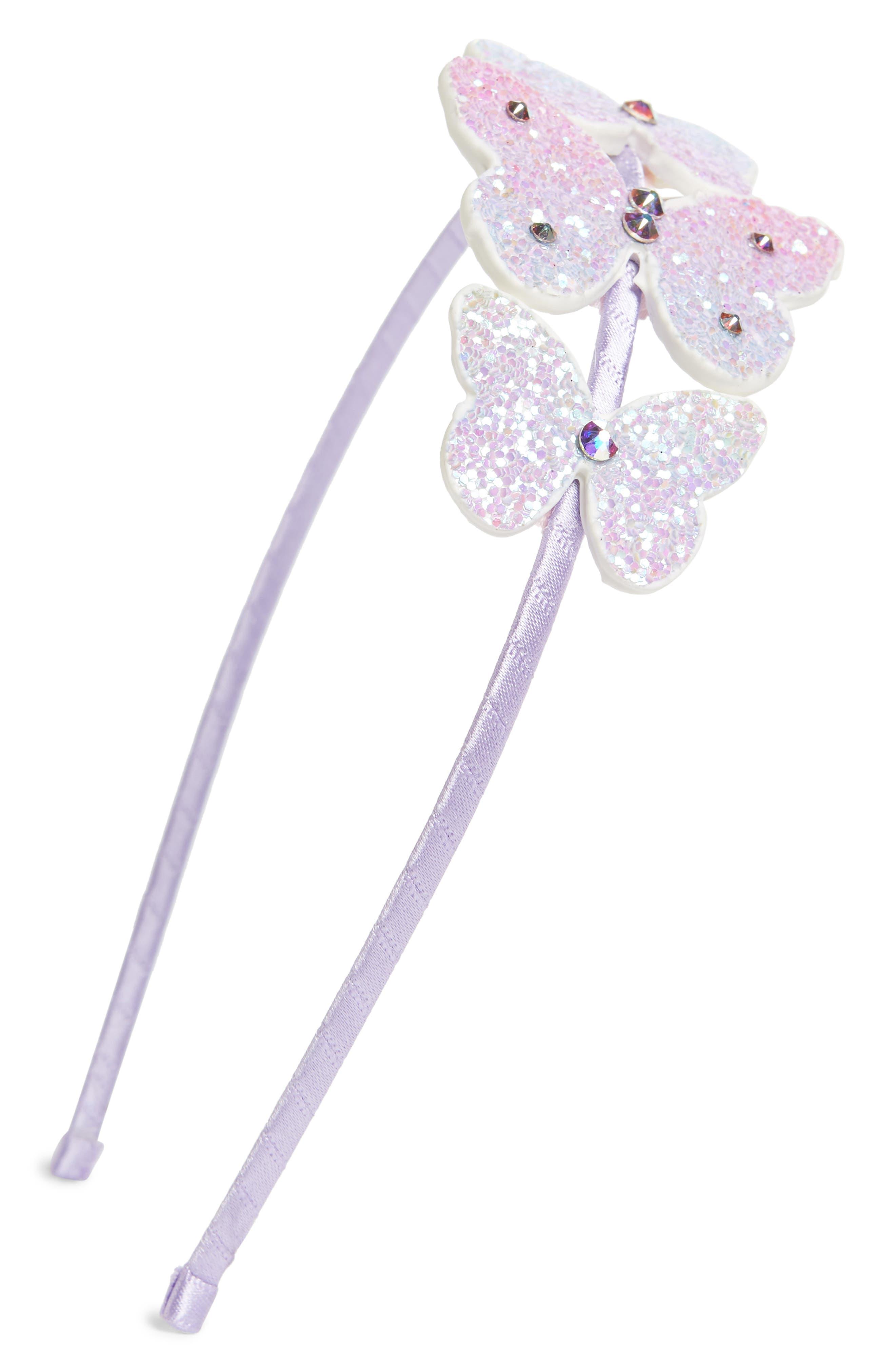 ,                             Butterfly Headband,                             Main thumbnail 1, color,                             LAVENDER