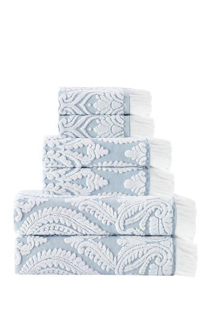 Image of ENCHANTE HOME Laina Turkish Cotton 6-Piece Towel Set
