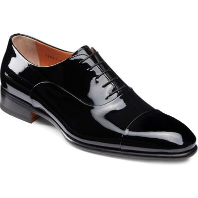 Santoni Isaac Cap Toe Oxford, Black