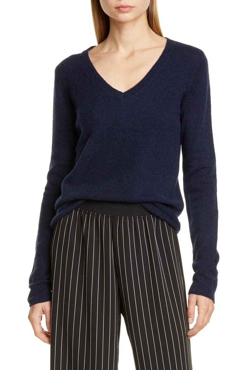 ATM ANTHONY THOMAS MELILLO Cashmere V-Neck Sweater, Main, color, MIDNIGHT