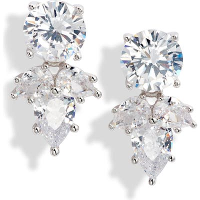 Nordstrom Teardrop Cluster Cubic Zirconia Stud Earrings