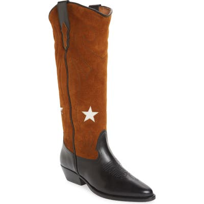 Roseanna Tall Western Boot, Brown