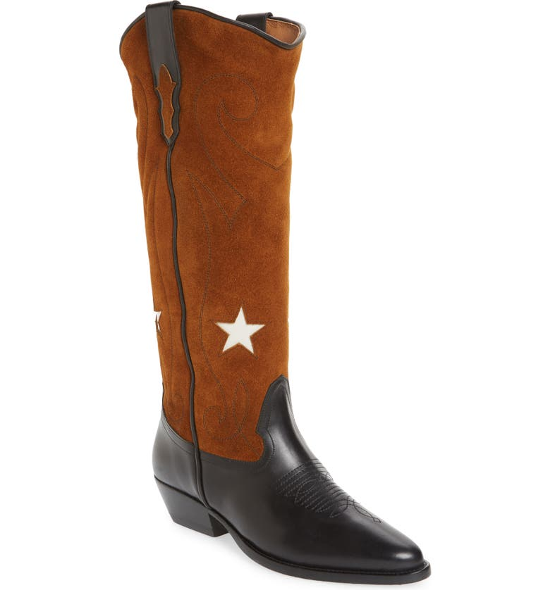 ROSEANNA Tall Western Boot, Main, color, MULTI WHISKY