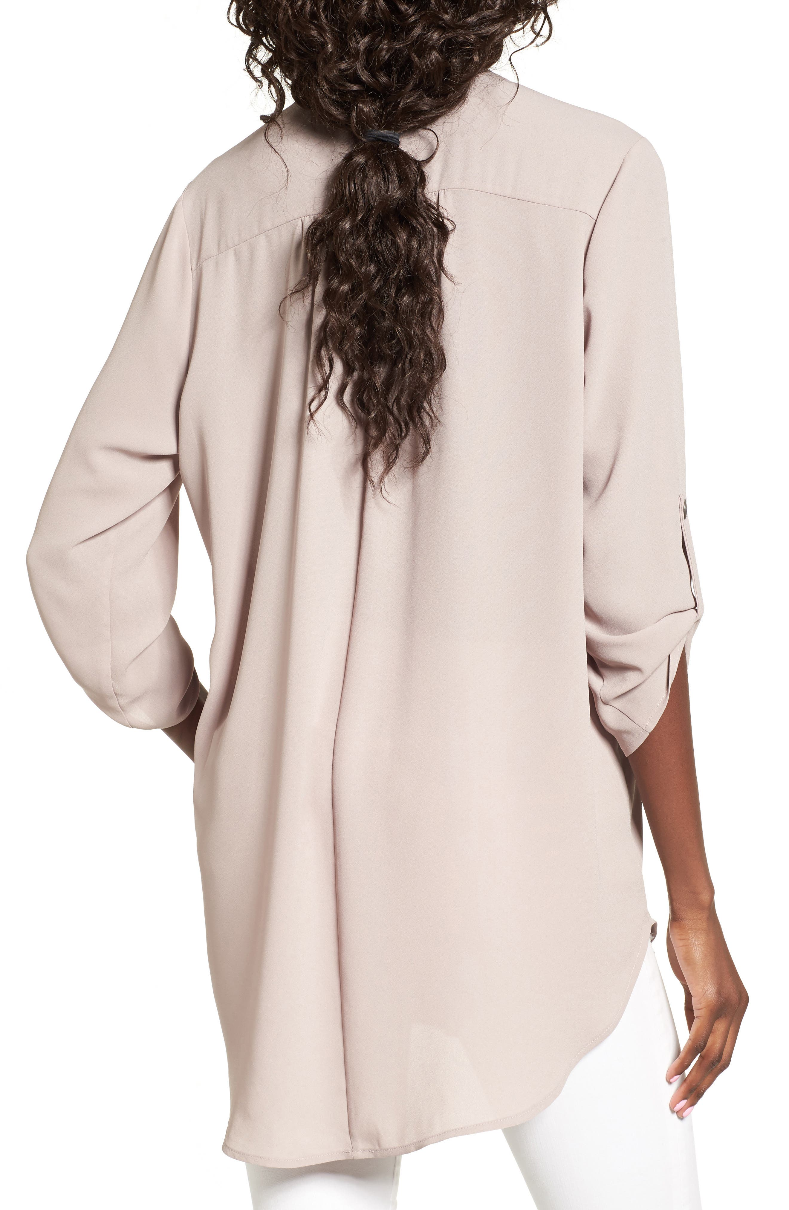 ,                             Perfect Roll Tab Sleeve Tunic,                             Alternate thumbnail 203, color,                             023