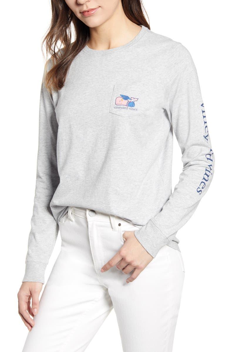 Vineyard Vines Christmas Shirt 2019.Vineyard Vines Graduation Whale 2019 Long Sleeve Pocket Tee