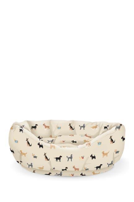 Image of Fringe Studio Happy Breeds Natural Large Cuddler Pet Bed