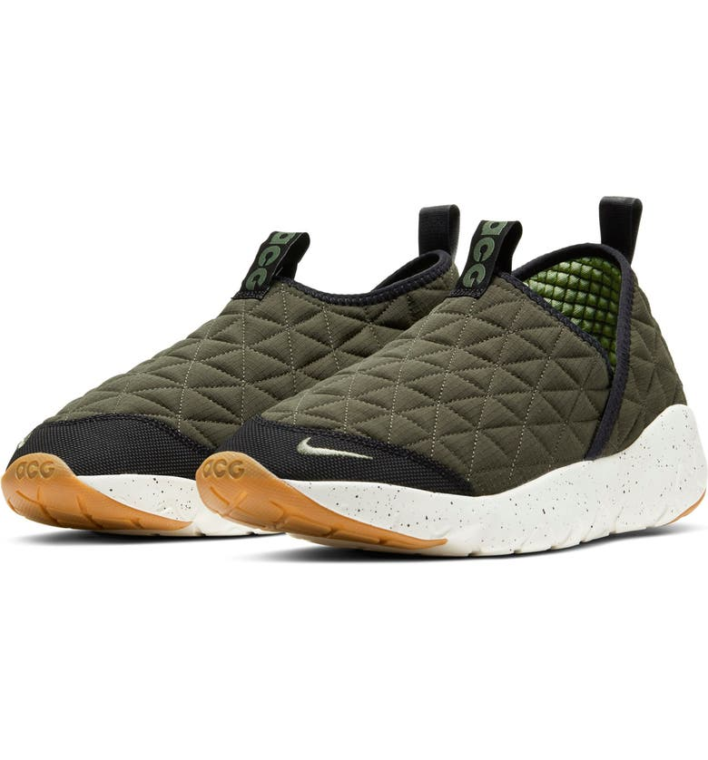 NIKE ACG Moc 3.0 Hiking Sneaker, Main, color, CARGO KHAKI/ OIL GREEN/ BLACK