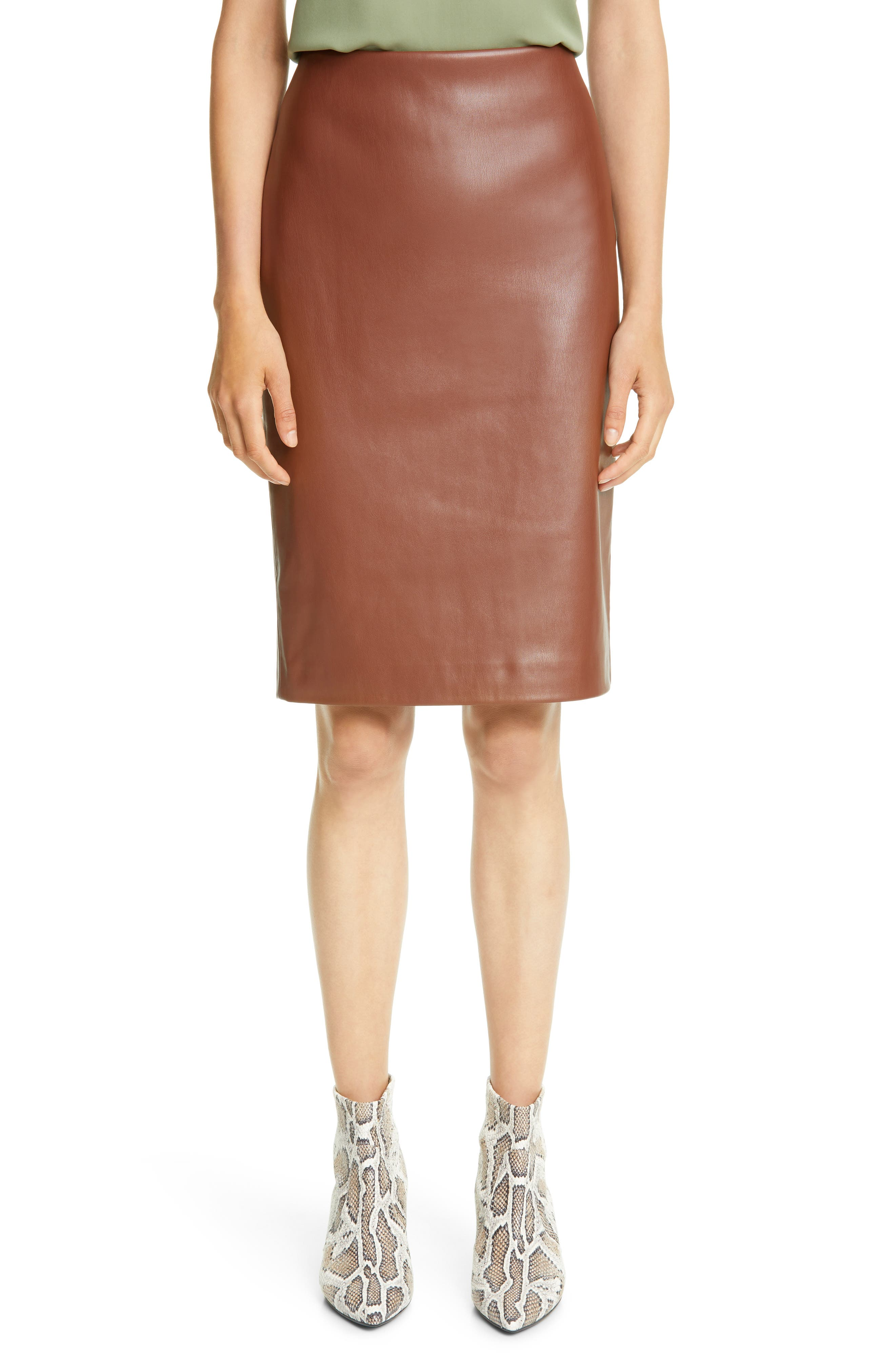 Theory Skinny Faux Leather Pencil Skirt   Nordstrom