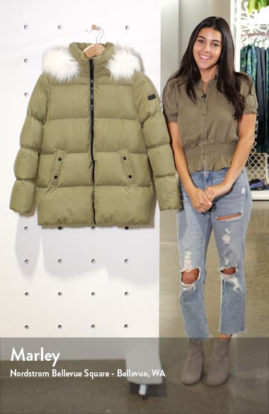 Water Repellent Faux Fur Trim Puffer Jacket, sales video thumbnail