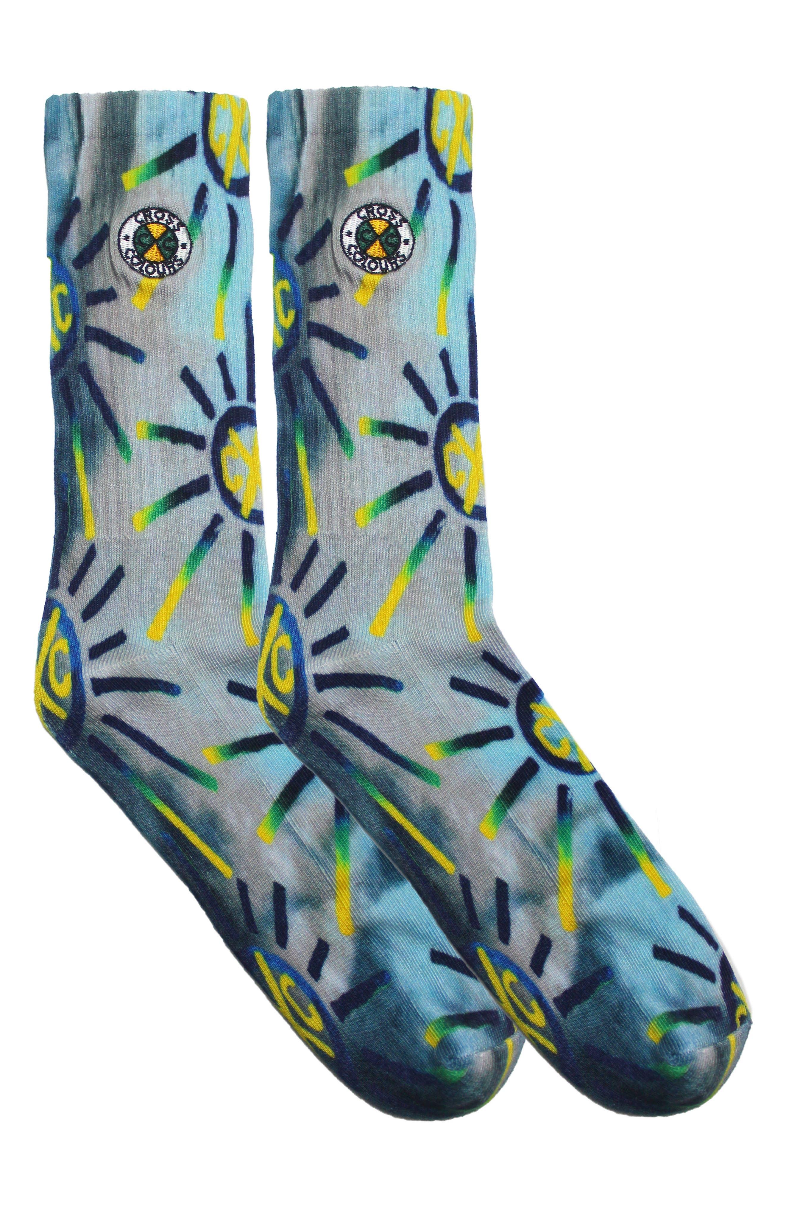 Good Vibrations Tie Dye Socks