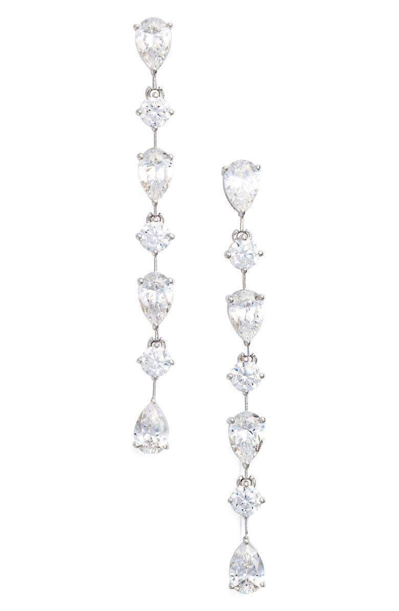 NADRI Linear Earrings, Main, color, 040