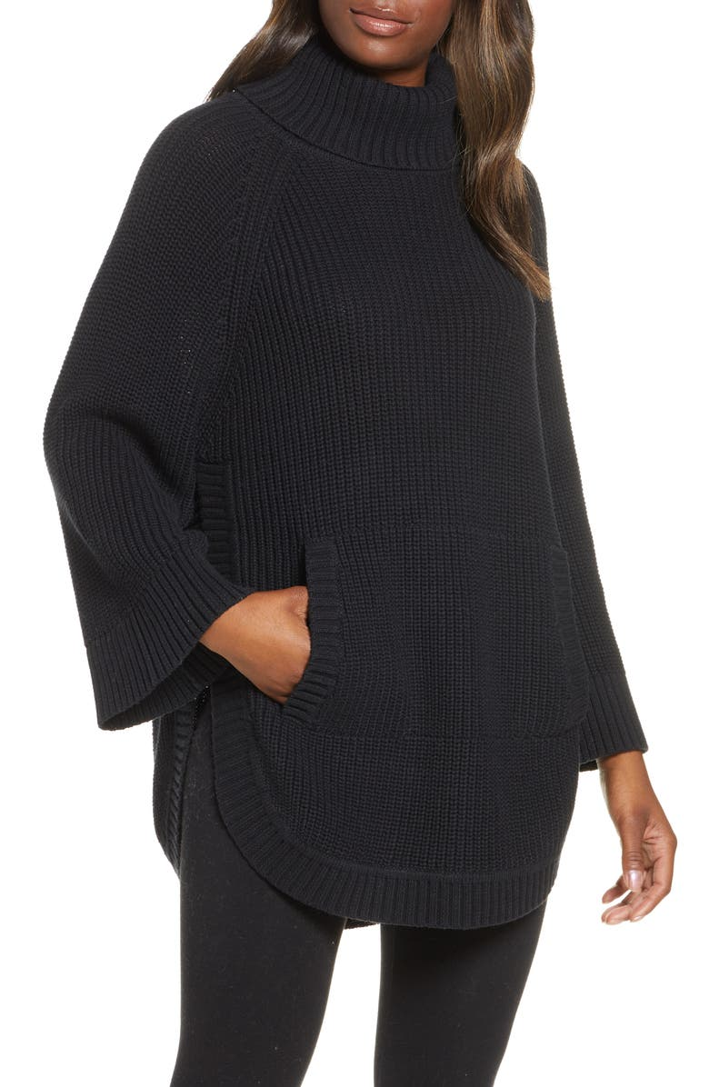 UGG<SUP>®</SUP> Raelynn Turtleneck Pullover, Main, color, BLACK