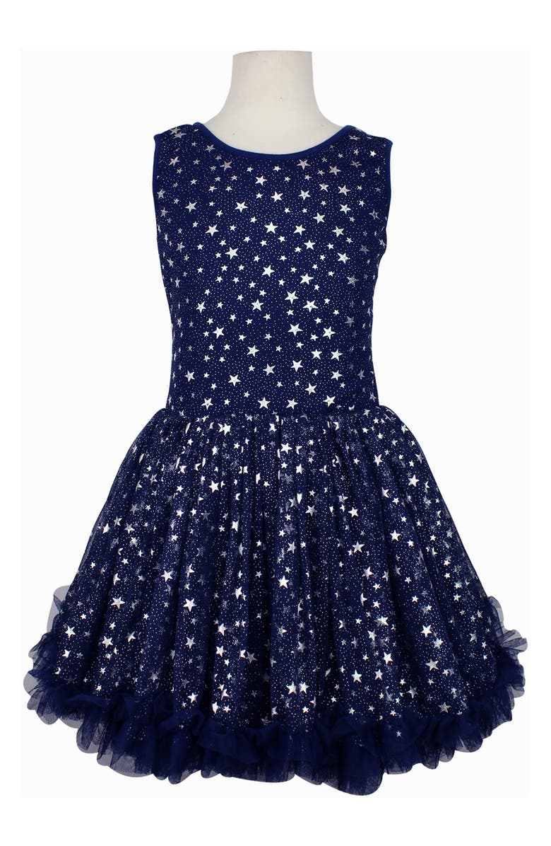 POPATU Foil Star Pettidress, Main, color, NAVY