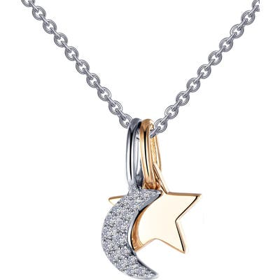 Lafonn Star & Moon Pendant Necklace