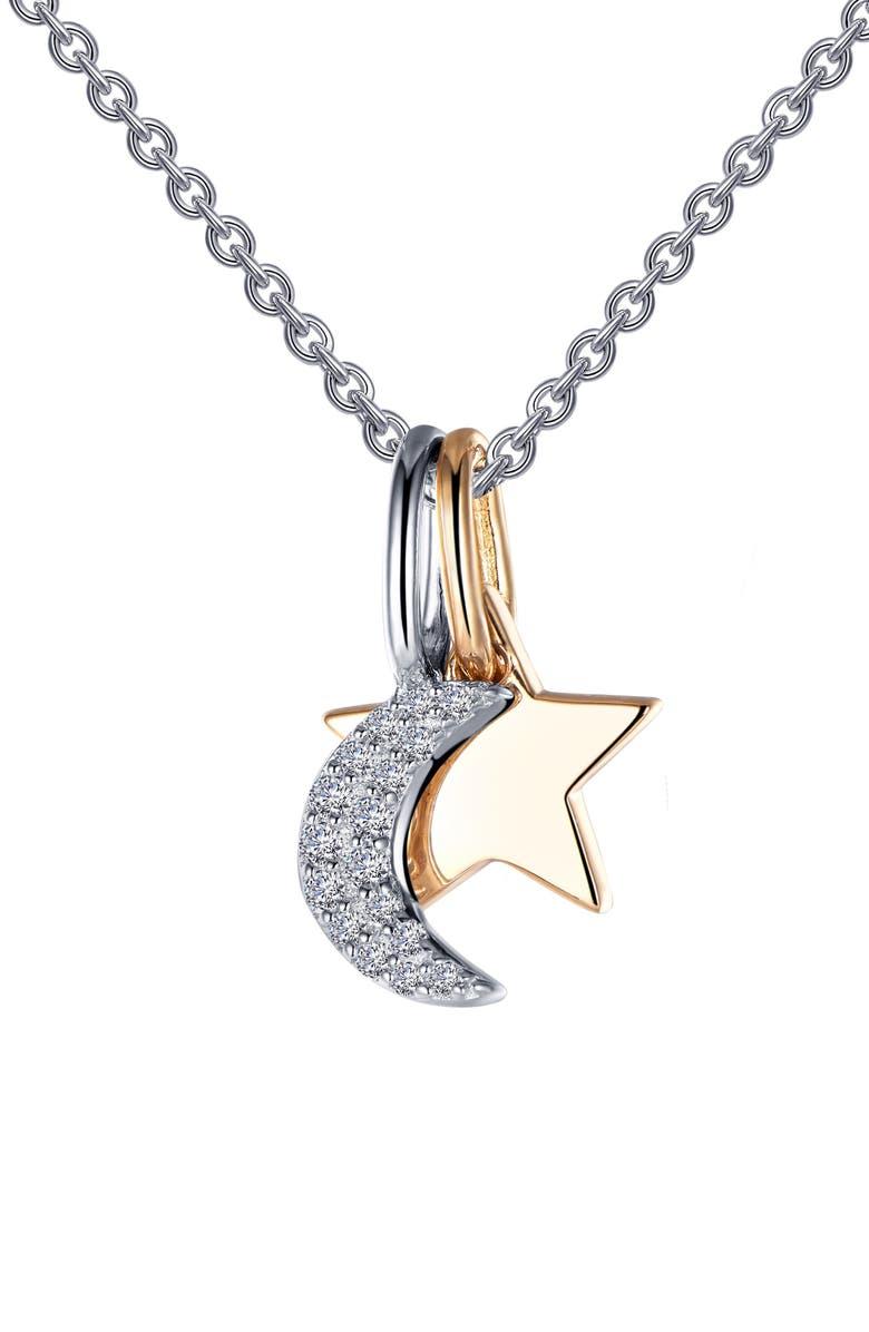 LAFONN Star & Moon Pendant Necklace, Main, color, 040