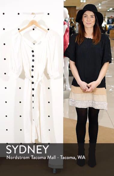 Puff Sleeve Tie Waist Dress, sales video thumbnail