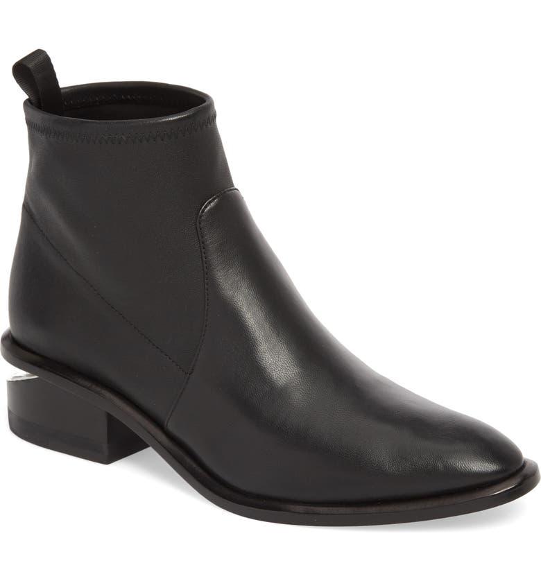 ALEXANDER WANG Kori Block Heel Bootie, Main, color, BLACK
