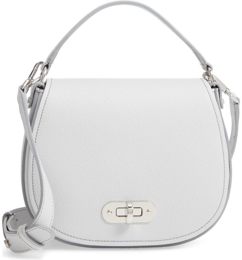SERAPIAN MILANO Mini Luna Leather Top Handle Bag, Main, color, 020