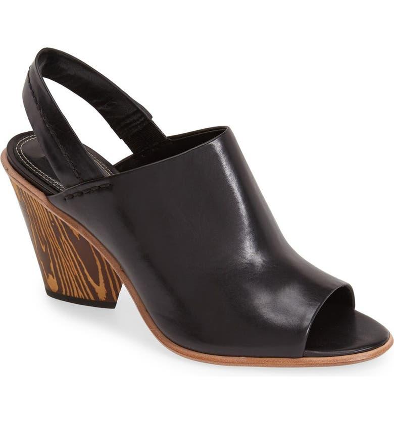 DEREK LAM 'Billie' Leather Slingback, Main, color, Black