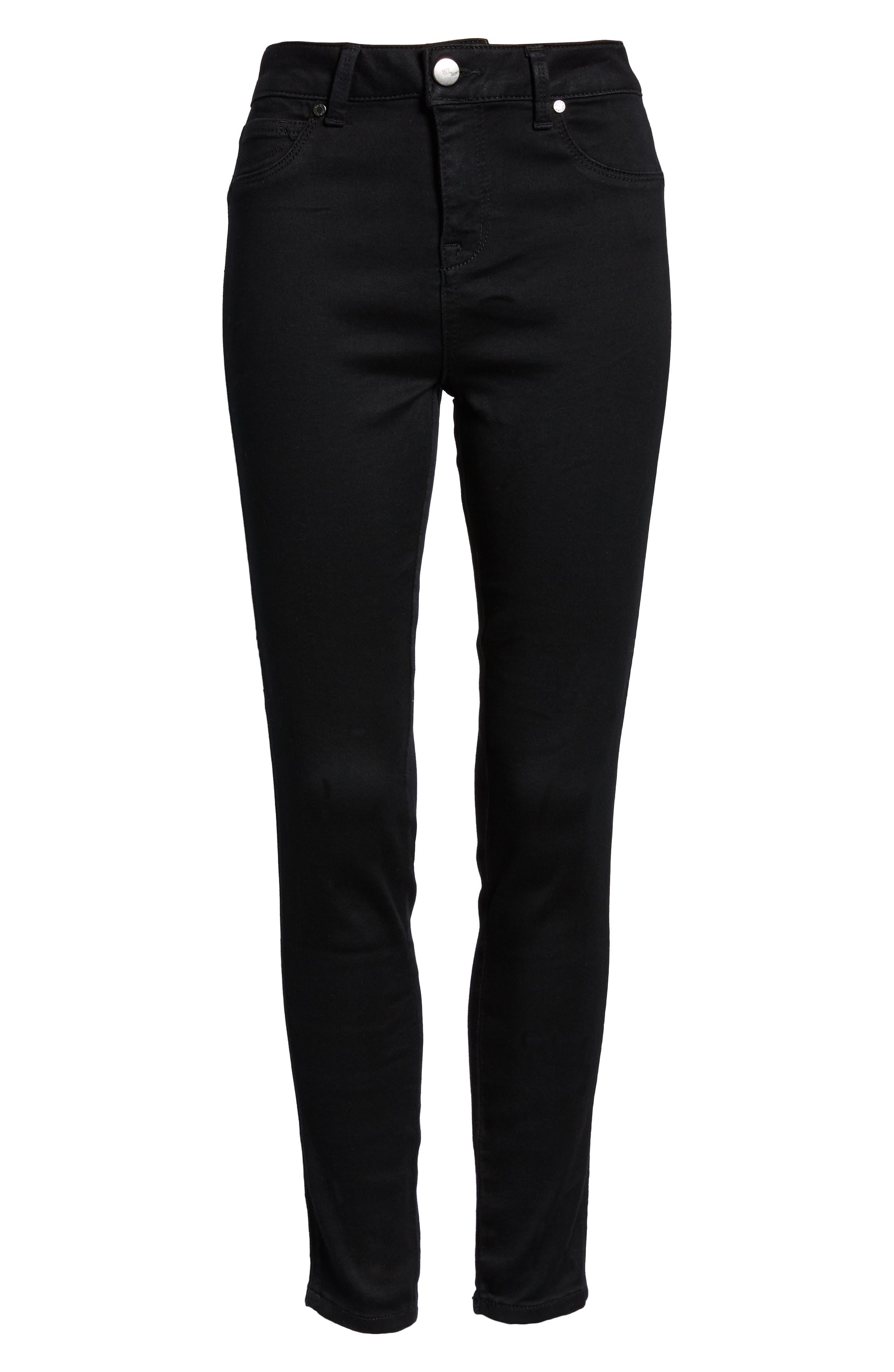 ,                             Butter High Waist Skinny Jeans,                             Alternate thumbnail 7, color,                             BLACK