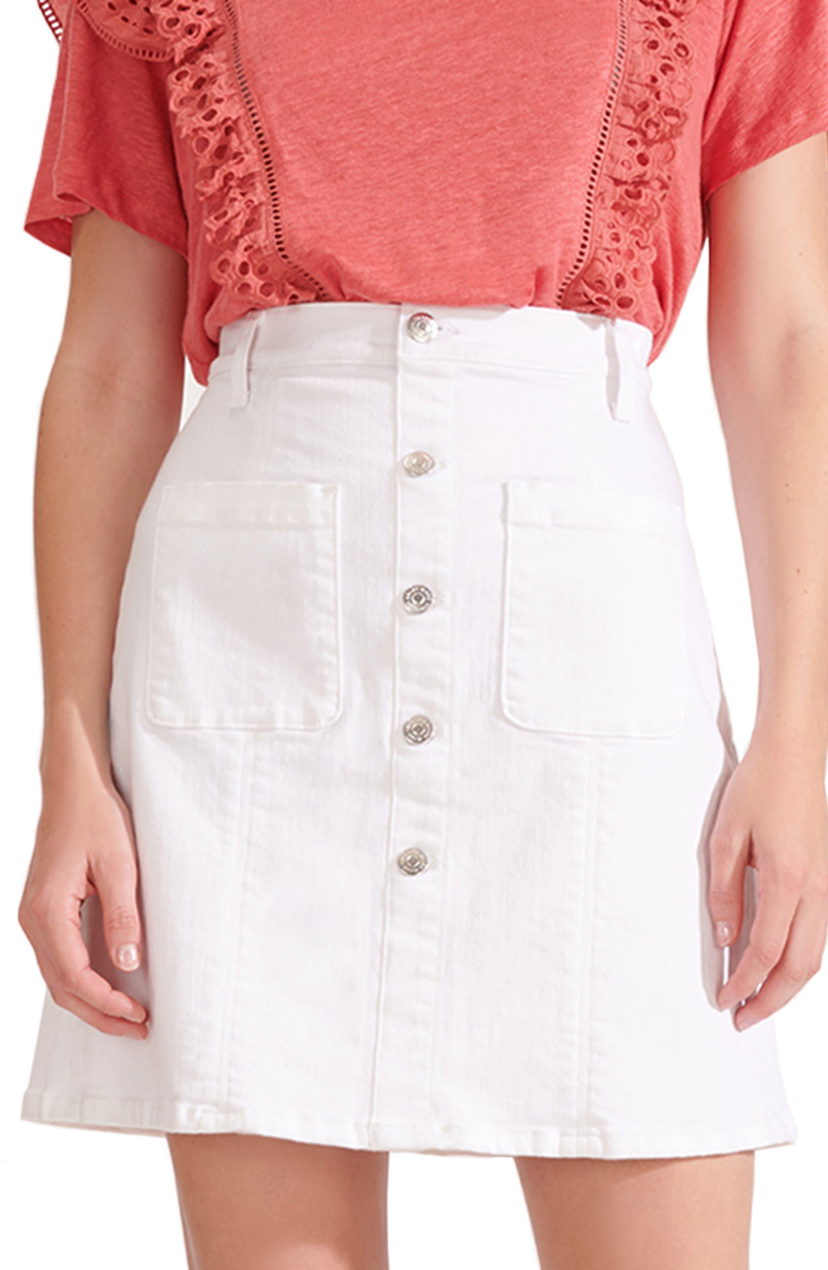 Image of VERONICA BEARD Deena Patch Pocket Denim Miniskirt