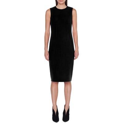 Akris Dart Detail Wool Crepe Sheath Dress, Black