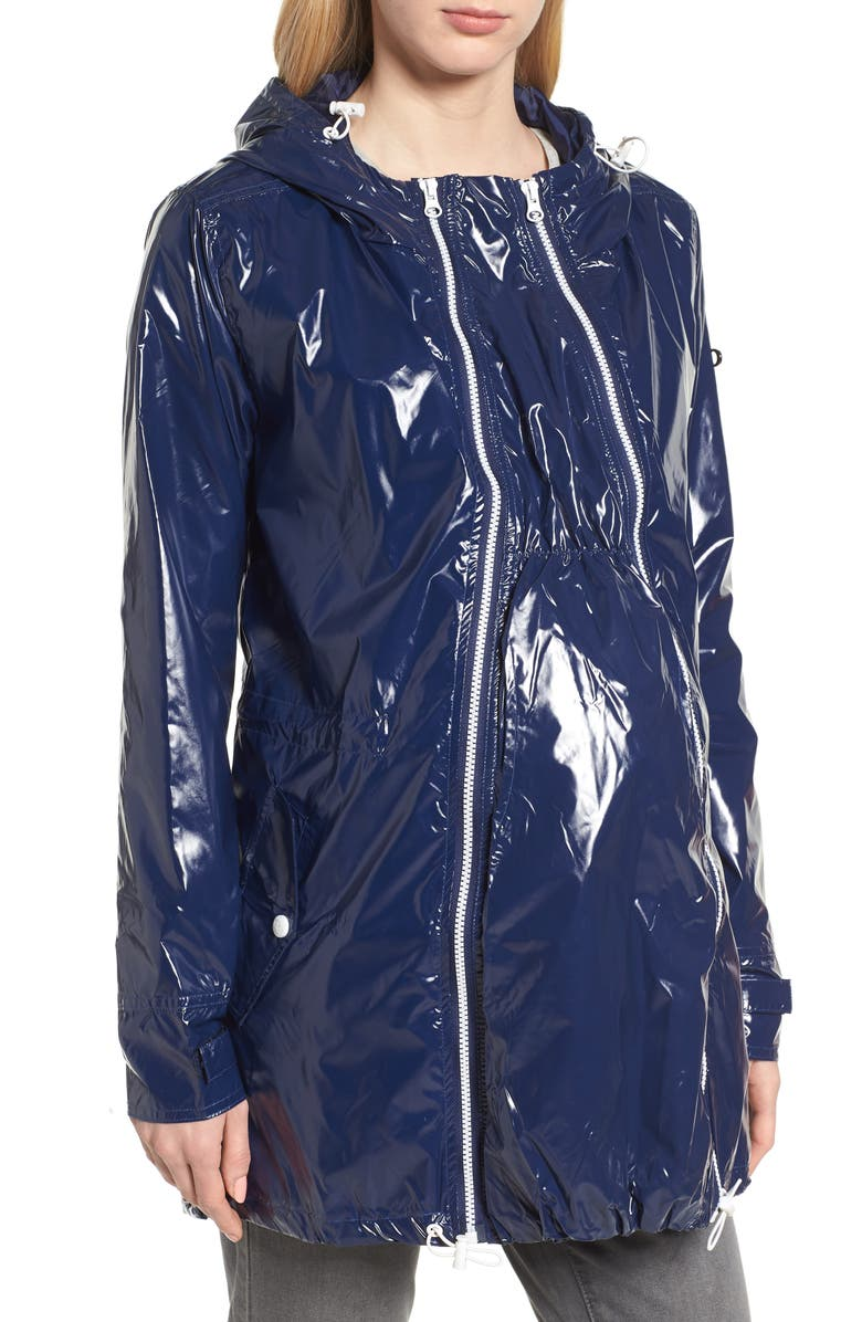 MODERN ETERNITY Waterproof Convertible 3-in-1 Maternity Raincoat, Main, color, BRIGHT NAVY