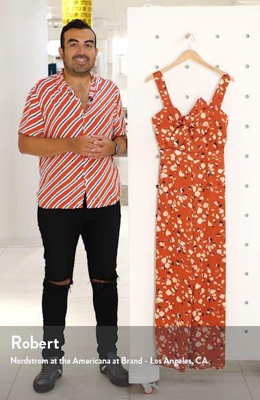 Mae Floral Print Wide Leg Jumpsuit, sales video thumbnail