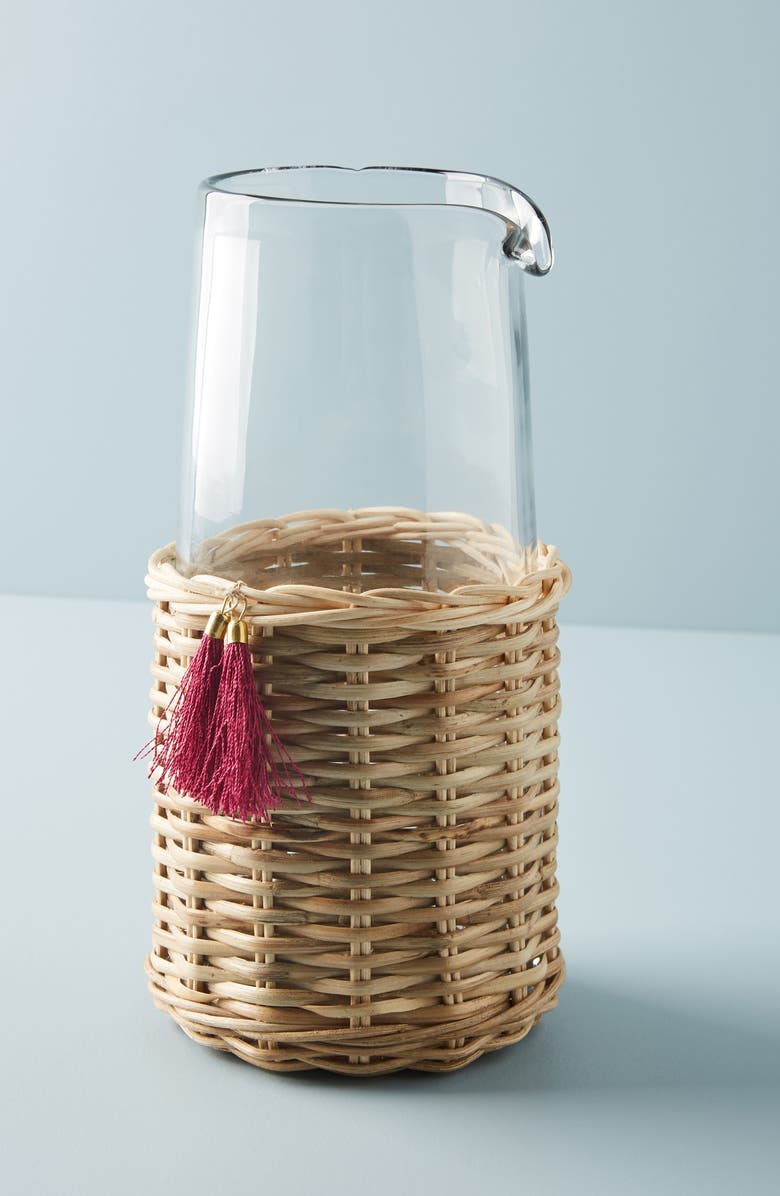 ANTHROPOLOGIE HOME Elena Glass Pitcher, Main, color, COMBO B- MULTI