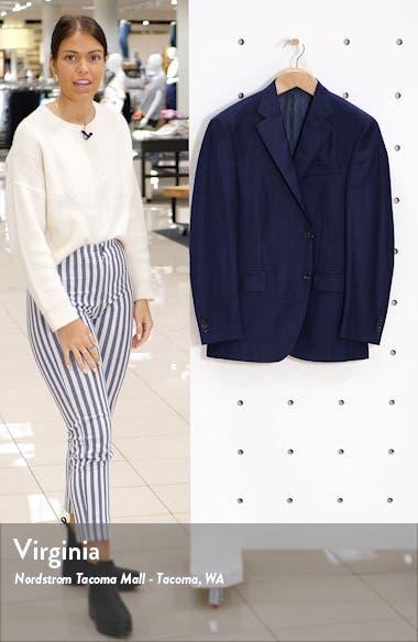 Flynn Classic Fit Check Wool Sport Coat, sales video thumbnail