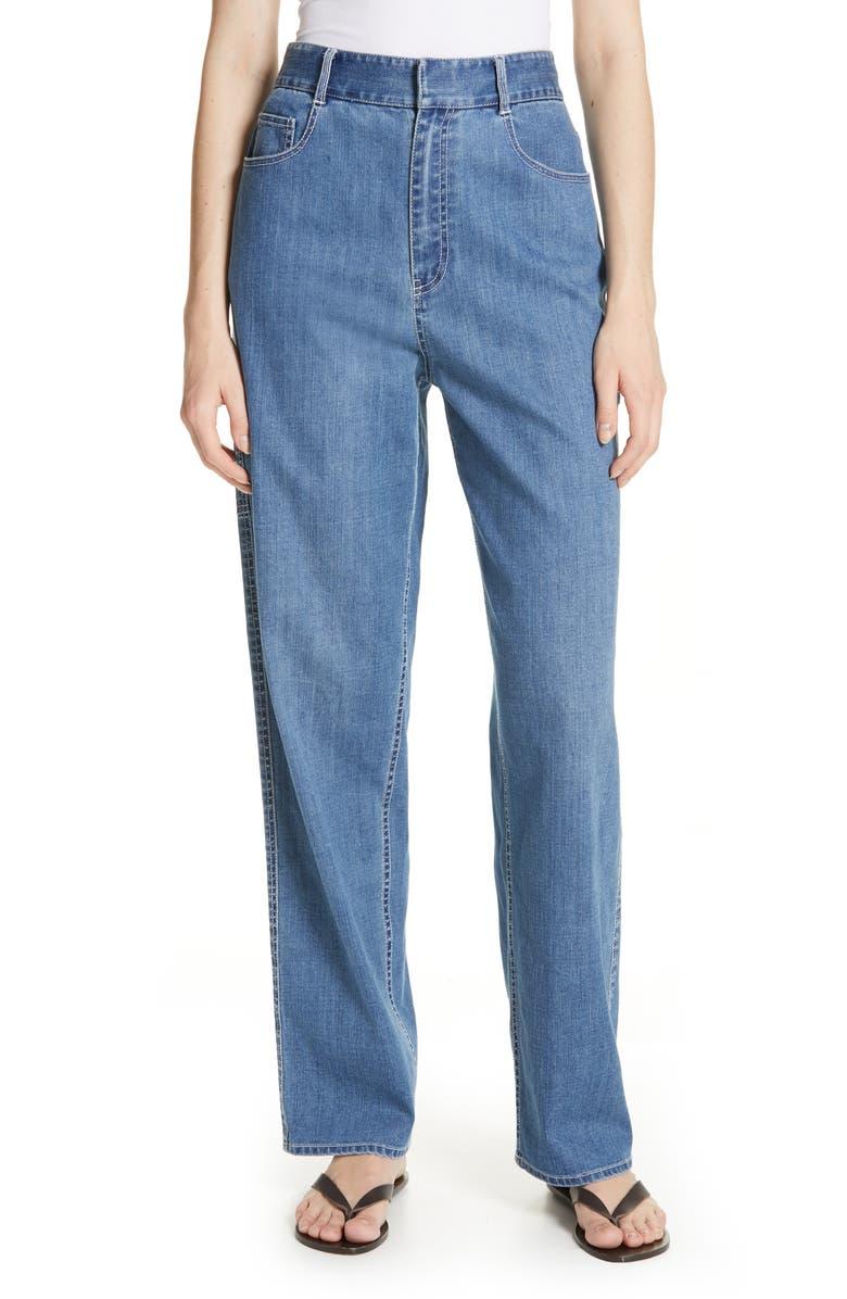 TIBI Denim Carpenter Pants, Main, color, 401