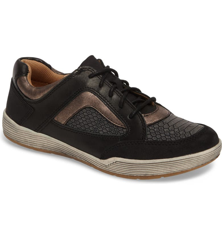 COMFORTIVA Lemont Snake Embossed Sneaker, Main, color, 001