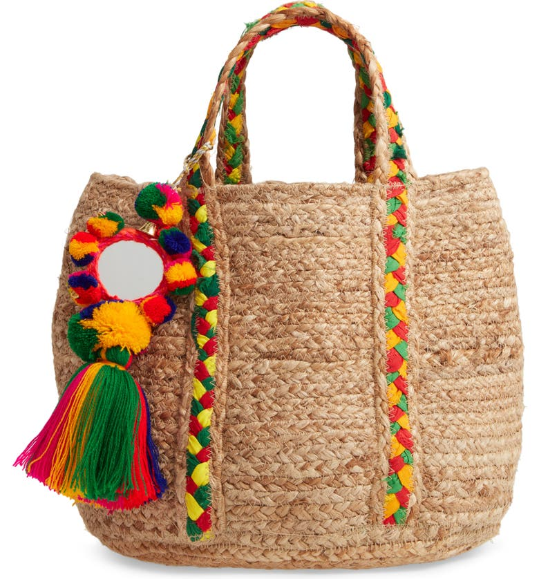 STEVE MADDEN Bangie Woven Tote, Main, color, 250