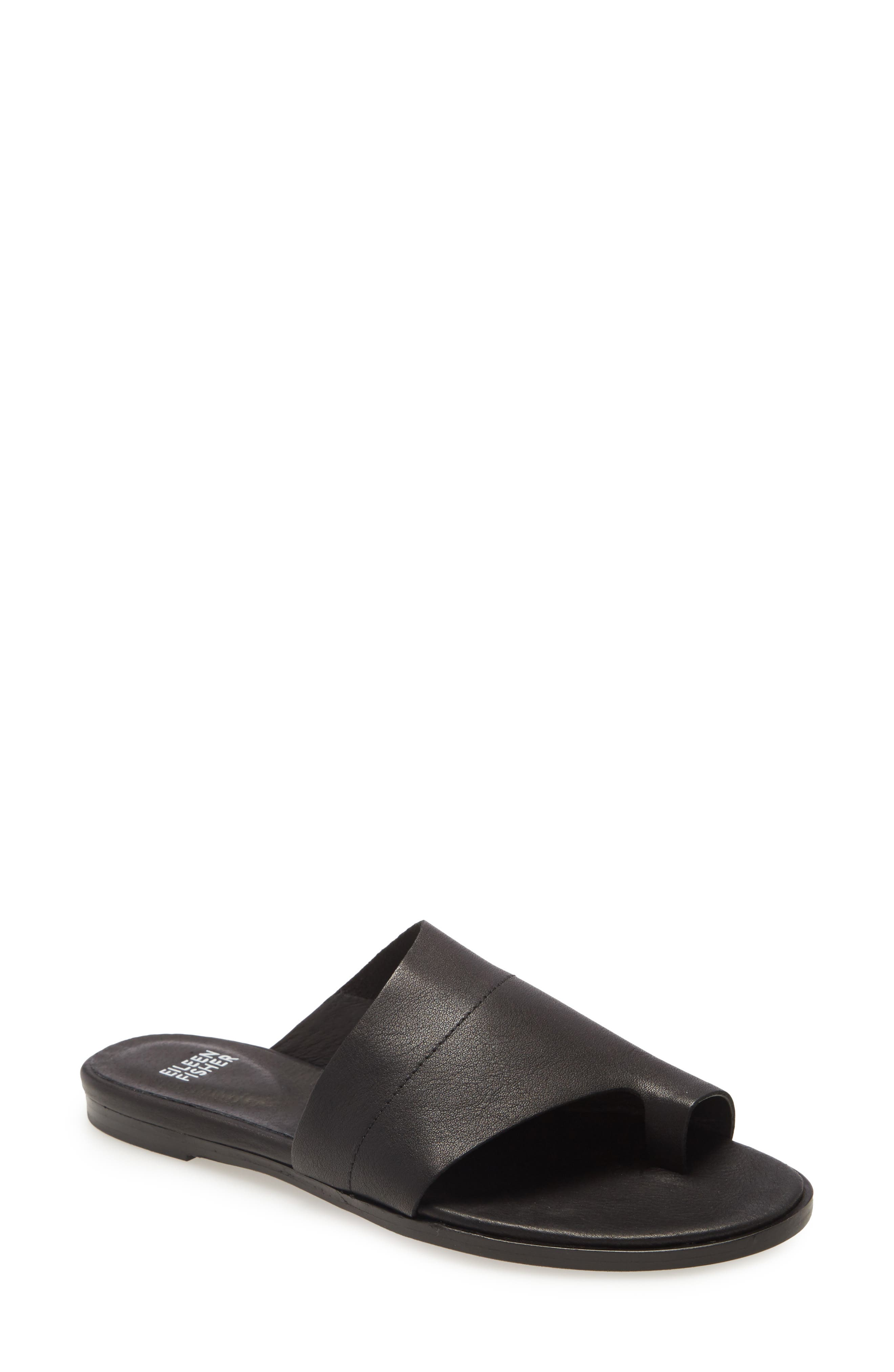 Image of Eileen Fisher Ty Leather Toe Loop Sandal