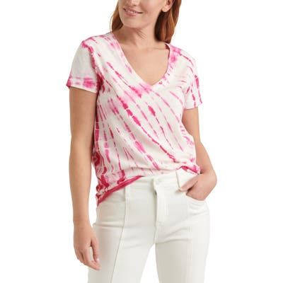Lucky Brand Essential Tie Dye V-Neck T-Shirt, Pink